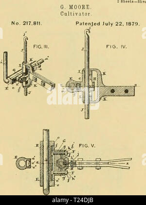 Archive image from page 682 of Digest of agricultural implements, patented - Stock Photo