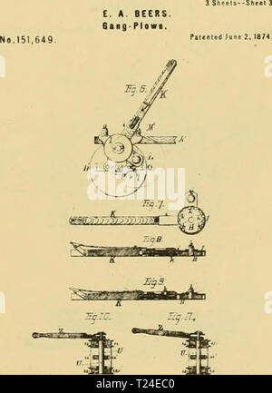 Archive image from page 856 of Digest of agricultural implements, patented - Stock Photo