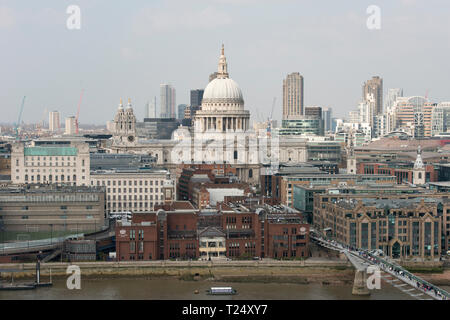 Tate Modern, London, UK. 30th March, 2019. Aerial views of the city. © Byron Kirk - Stock Photo