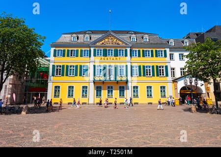 BONN, GERMANY - JUNE 29, 2018: Post office in the centre of Bonn city in Germany
