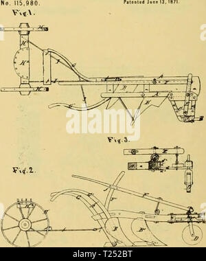 Archive image from page 823 of Digest of agricultural implements, patented Digest of agricultural implements, patented in the United States from A.D. 1789 to July 1881 ..  digestofagricult02alle Year: 1886 - Stock Photo