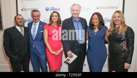 New York, United States. 28th Mar, 2019. Honorees attend 7th Annual Champions of Jewish Values Gala at Carnegie Hall Credit: Lev Radin/Pacific Press/Alamy Live News - Stock Photo