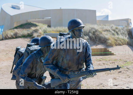 Utah Beach, Normandy, France, March 26, 2019, Higgins Memorial located at Utah Beach where the landings took place on D-Day 1944 - Stock Photo