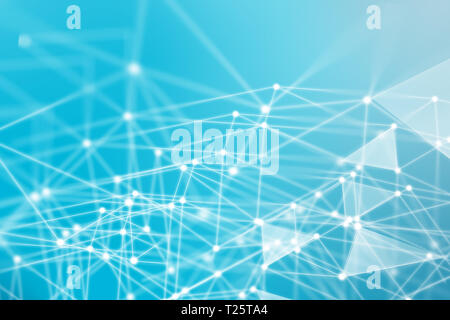 abstract network concept illustration - technology background - Stock Photo