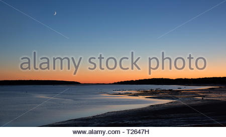 Sunset over Wellfleet Bay, Cape Cod - Stock Photo