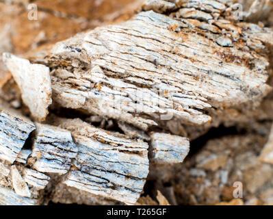 Texture of stone and soil on rocky mountain soil - Stock Photo