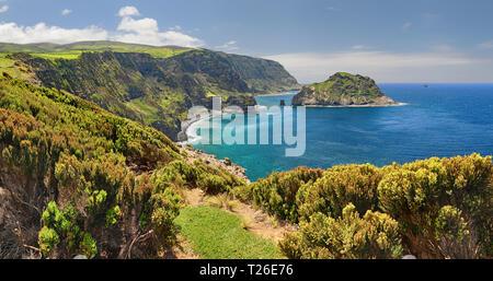 Northern Coast at Flores near Ponta Delgada (Azores islands) - Stock Photo
