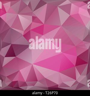 Pink square background of triangles - Stock Photo