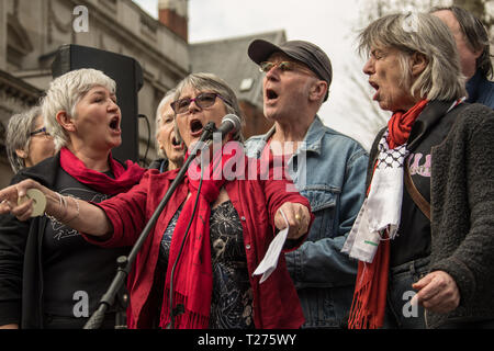 London, UK. 30 March, 2019. Palestinians and supporters gathered outside of the Israeli Embassy in London to mark the beginning of Nakba and to call on the global community to hold Israel to account for their violation of human rights and International law. David Rowe/ Alamy Live News. - Stock Photo