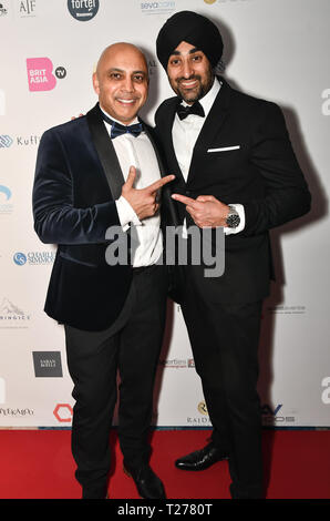 London, UK. 30th March 2019. Arrivers at the BritAsiaTV Presents Kuflink Punjabi Film Awards 2019 at Grosvenor House, Park Lane, London,United Kingdom. 30 March 2019 Credit: Picture Capital/Alamy Live News - Stock Photo