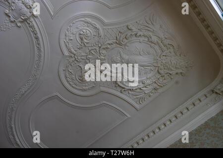 7 FEBRUARY 2019, TBILISI, GEORGIA: Restored interiors of famous Sarajishvili palace  in Sololaki area in Tbilisi, Georgia - Stock Photo