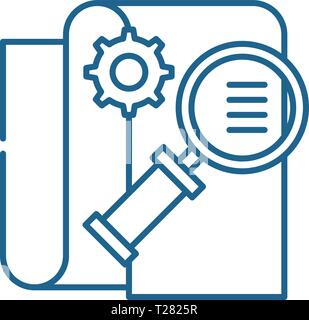 Business intelligence line icon concept. Business intelligence flat  vector symbol, sign, outline illustration. - Stock Photo