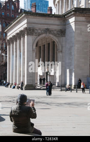 Around the UK - Central Library, Manchester - Stock Photo