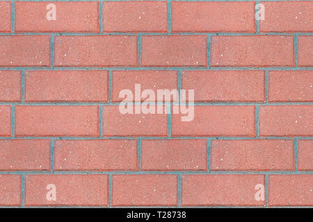 Red brick wall fragment for use as a seamless background. - Stock Photo