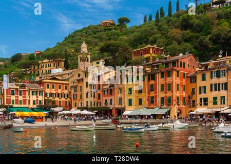 Portofino's view in Italy - Stock Photo