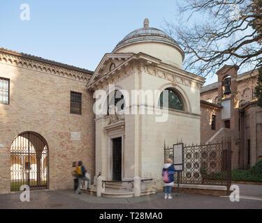 Tomb of Dante Alighieri in Ravenna, Italy - Stock Photo
