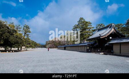 Kyoto Imperial Palace Park, Kyoto, Japan - Stock Photo