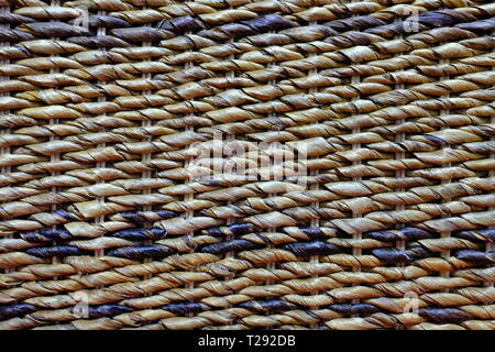 Textured background of a woven bamboo handmade chair - Stock Photo
