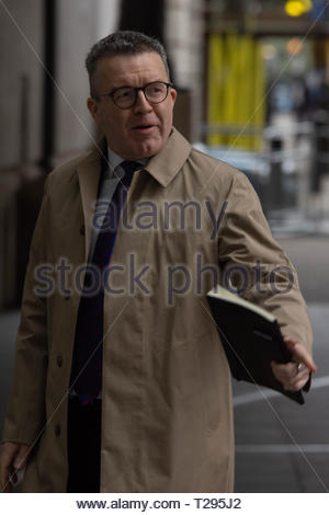 London, UK. 31st March 2019. Labour MP and Deputy Leader of the Labour Party Tom Watson arrives at BBC Broadcasting House before appearing on the Andrew Marr Show. London, Great Britain, 31 Mar 2019  Credit: David Nash/Alamy Live News - Stock Photo