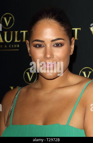 London, UK. 30th March 2019. Malin Anderson attends The Vault Bar & Club re-brand launch event, The Vault, High Street, Stevenage, UK Credit: SOPA Images Limited/Alamy Live News - Stock Photo