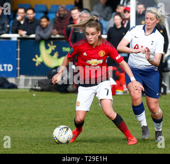Cheshunt, UK. 31st Mar, 2019. Ella Toone of Manchester United Women during The FA Women's Championship match between Tottenham Hotspur Ladies and Manchester United Women at The Stadium, Cheshunt FC, Cheshunt, UK on 31 Mar 2019. Credit: Action Foto Sport/Alamy Live News - Stock Photo