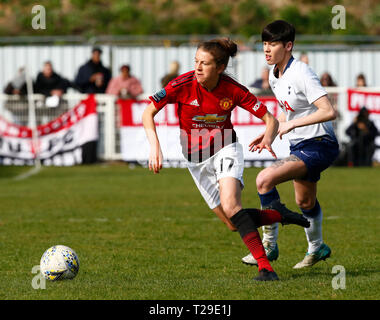 Cheshunt, UK. 31st Mar, 2019. Lizzie Arnot of Manchester United Women during The FA Women's Championship match between Tottenham Hotspur Ladies and Manchester United Women at The Stadium, Cheshunt FC, Cheshunt, UK on 31 Mar 2019. Credit: Action Foto Sport/Alamy Live News - Stock Photo