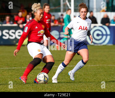 Cheshunt, UK. 31st Mar, 2019. Lauren James of Manchester United Women during The FA Women's Championship match between Tottenham Hotspur Ladies and Manchester United Women at The Stadium, Cheshunt FC, Cheshunt, UK on 31 Mar 2019. Credit: Action Foto Sport/Alamy Live News - Stock Photo