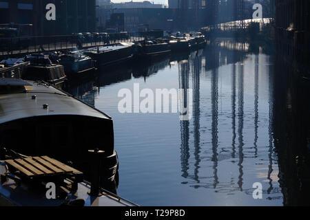 Grand Union Canal, Hackney, London, United Kingdom - Stock Photo