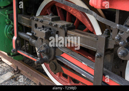 steam locomotive and its wheels - Stock Photo