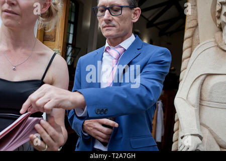 Wedding at St Andrew's School for Girls - Stock Photo