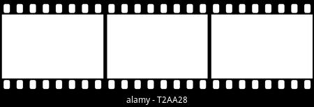 Photographic film in form of frame on white background. Copy space - Stock Photo