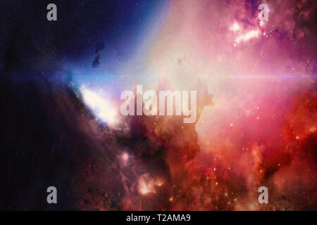 Abstract multicolored deep space. High definition star field background . Starry outer space background. Colorful Starry Outer Space background - Stock Photo