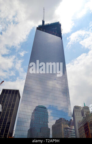 One World Trade Center (formerly known as Freedom Tower) in New York, New York USA - Stock Photo