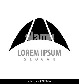 Black crescent up concept design. Symbol graphic template element - Stock Photo
