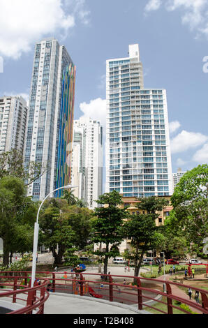 Panama City buildings as seen from - Stock Photo
