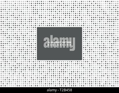 Abstract minimal gray square pattern background. You can use for ad, poster, artwork. vector eps10 - Stock Photo