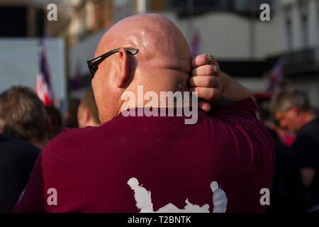 March 29th 2019 The day the Britain was meant to leave the EU. Leave Means Leave along with UKip held rallies near Parliament, London - Stock Photo