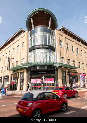 Belfast, Northern Ireland, UK - March, 23 2019: House of Frazer Department Store, Victoria Square - Stock Photo