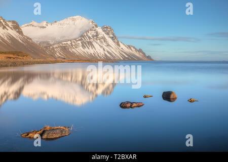 Stokksnes, Hornafjordur, Hofn, South Iceland, Iceland, Europe - Stock Photo