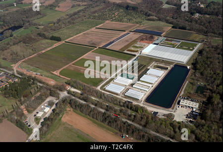 aerial view of a horticulture nursery near Sandiway, Cheshire - Stock Photo