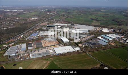 aerial view of Whitehouse Industrial Estate, Runcorn WA7 - Stock Photo