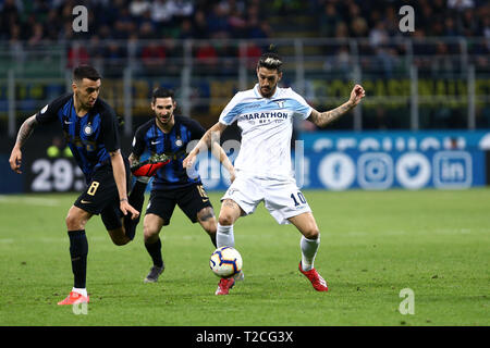 Milano, Italy. 31st Jan, 2019. Luis Alberto of SS Lazio in action during the the Serie A match between FC Internazionale and Ss Lazio. Credit: Marco Canoniero/Alamy Live News - Stock Photo