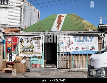Tiny store in Saint John's, Capital of Antigua and Barbuda - Stock Photo