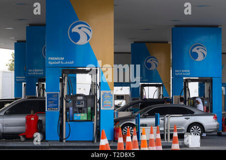 Petrol station in the United Arab Emirates - Stock Photo