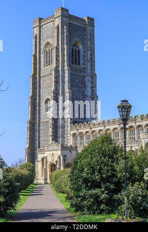 st peter and st paul parish church, Lavenham Town Centre, Suffolk, England, UK, GB - Stock Photo
