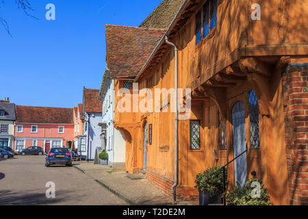 The Little Hall Museum, Lavenham Town Centre, Suffolk, England, UK, GB - Stock Photo