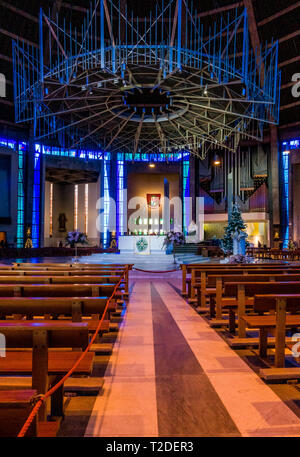 Interior of Liverpool Metropolitan Cathedral of Christ the King - Stock Photo