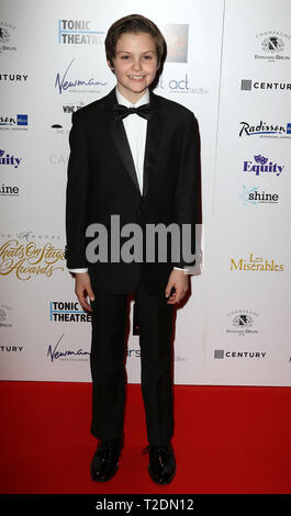 Feb 21, 2016 - London, England, UK - The 16th Annual WhatsOnStage Awards, The Prince of Wales Theatre - Red Carpet Arrivals Photo Shows: - Stock Photo