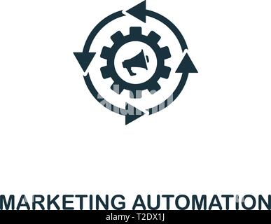 Marketing Automation icon. Creative element design from content icons collection. Pixel perfect Marketing Automation icon for web design, apps, softwa - Stock Photo