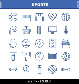 Sports Line Icon Pack For Designers And Developers. Icons Of Ball, Golf, Tee, Sports, Cricket, Stumps, Wicket, Sports, Vector - Stock Photo